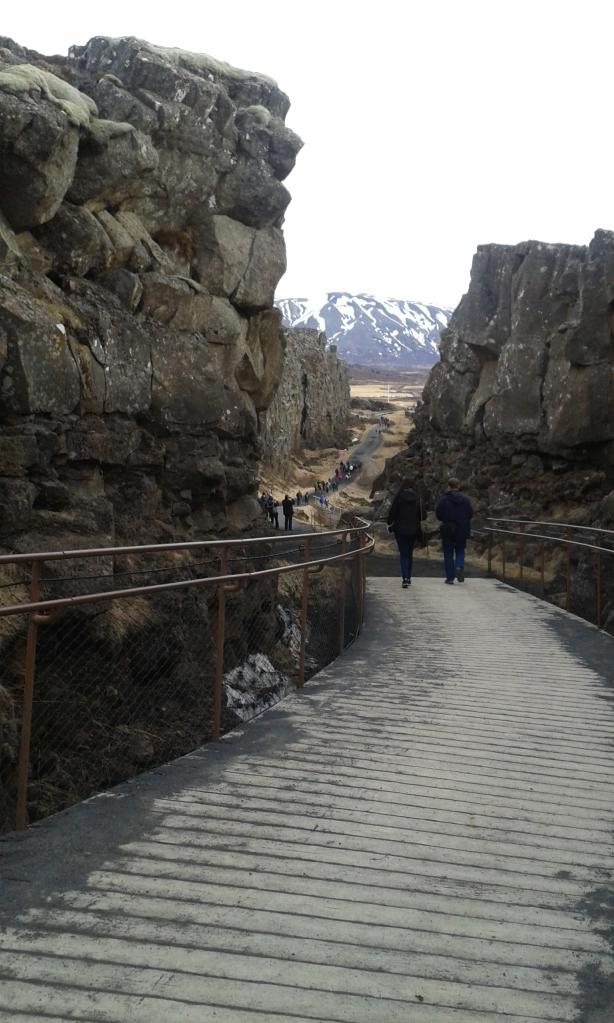 Formațiuni bazaltice în Thingvellir