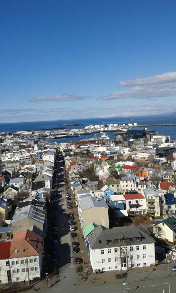 Reykjavik, văzut din Hallgrimskirkja
