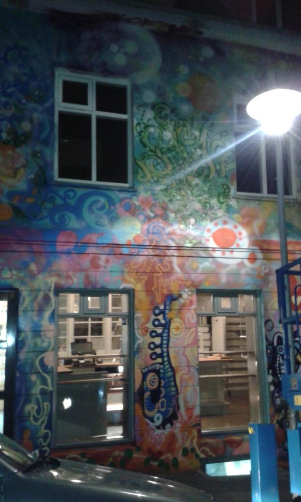 Grafitti psihedelic pe Laugavegur