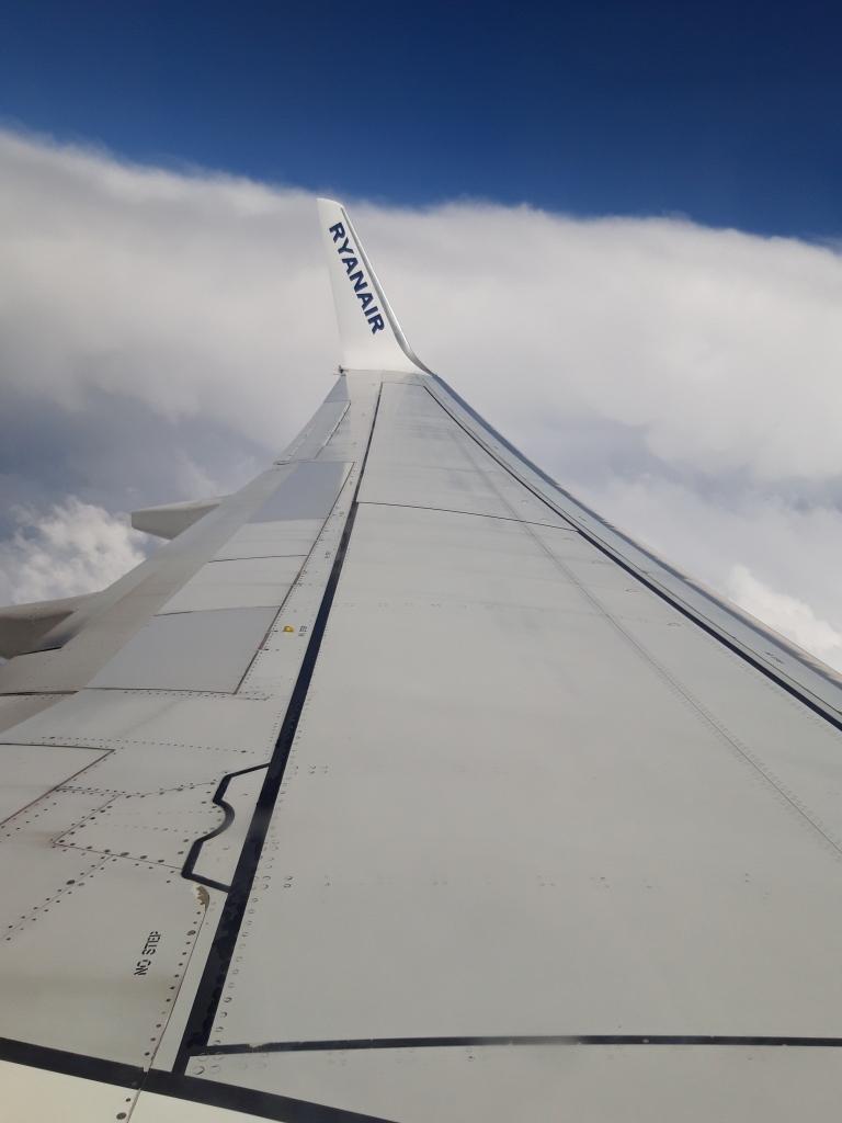 Aripa avionului Ryanair